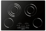 "VECTEM304 Verona 30"" Electric Radiant Smoothtop 4 - Burner Cooktop - Black"