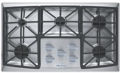 "VECTGV365SS Verona 36"" Gas 5 Burner Cooktop with Front Controls - Stainless Steel"