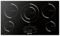 "VECTIM365 Verona 36"" Electric Induction 5-Burner Cooktop - Black"