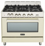 "VEFSGE365NAW Verona 36"" Dual Fuel Single Oven Range - Antique White (Bisque)"