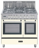 "VEFSGE365NDAW Verona 36"" Dual Fuel Double Oven Range - Antique White (Bisque)"