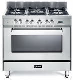 "VEFSGE365NSS Verona 36"" Dual Fuel Single Oven Range - Stainless Steel"