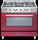"VEFSGG365NBU Verona 36"" All Gas Single Oven Range - Burgundy"