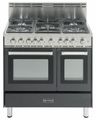 "VEFSGG365NDE Verona 36"" All Gas Double Oven Range - Matte Black Finish"