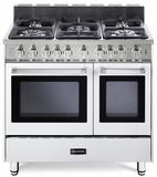 "VEFSGG365NDW Verona 36"" All Gas Double Oven Range - White"