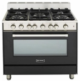 "VEFSGG365NE Verona 36"" All Gas Single Oven Range - Matte Black Finish"
