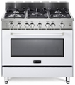 "VEFSGG365NW Verona 36"" All Gas Single Oven Range - White"
