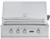 "VGBQ53624LSS Viking Professional 5 Series 36"" Ultra-Premium Built-in Gas Grill - LP Gas - Stainless Steel"