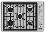 "VGC5305BSSLP Viking 30"" LP Gas Cooktop with Sealed Burners  Stainless Steel"
