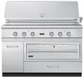 "VQWO5311NSS Viking 54"" W x 30"" D Base with 36"" Warming Drawer Opening - Stainless Steel"