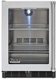 "VRCI5240GLSS Viking 24"" Undercounter Refrigerator with Forced Air Cooling System - Left Hinge - Stainless Steel"