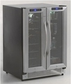 "WBV21DZ Avanti 24"" Side-by-Side French Door Dual Zone 21-Bottle Wine/Beverage Cooler - Stainless Steel"