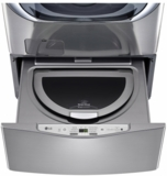 "WD100CV LG 27"" SideKick 1.0 Cu. Ft. 6-Cycle High-Efficiency Pedestal Washer - Stainless Steel"