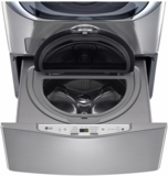 "WD200CV LG 29"" SideKick 1.0 Cu. Ft. 6-Cycle High-Efficiency Pedestal Washer - Graphite Steel"