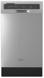 "WDF518SAAM Whirlpool 18"" Compact Tall Tub Dishwasher - Monochromatic Stainless Steel"