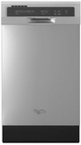 "WDF518SAFM Whirlpool 18"" Compact Tall Tub Dishwasher with Stainless Steel Interior - Monochromatic Stainless Steel"