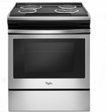 "WEC310S0FS 30"" Whirlpool 4.6 cu. ft. Slide-In Electric Range with Sabbath Mode - Stainless Steel"