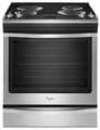 WEC530H0DS Whirlpool 6.2 cu. ft. Slide-In Electric Range with AccuBake System - Stainless Steel