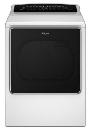 WED8500DW Whirlpool 8.8 cu. ft. Cabrio High-Efficiency Electric Steam Dryer - White