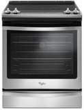 "WEE745H0FS Whirlpool 30"" Slide-In Electric Range with 5 Cooking Elements and 8,600 Watt Cooktop, 6.4 cu. ft. Convection Oven - Stainless Steel"