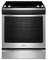 WEE760H0DS Whirlpool 6.2 cu. ft. Slide-In Electric Range with TimeSavor Plus True Convection - Stainless Steel