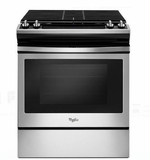 "WEG515S0FS 30"" Whirlpool 5.0 cu. ft. Slide-In Gas Range with Sabbath Mode - Stainless Steel"