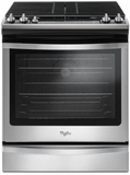 "WEG745H0FS Whirlpool 30"" Slide-In Gas Range with 5 Sealed Burners, 5.8 cu. ft. Capacity and True Convection Cooking - Stainless Steel"