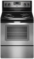 WFC310S0AS Whirlpool 4.8 Cu. Ft. Capacity Electric Range with AccuBake - Stainless Steel