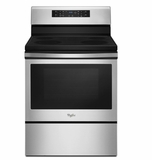 "WFE520S0FS 30"" Whirlpool 5.3 Cu. Ft. Freestanding Electric Range with Storage Drawer and 4 Burners - Stainless Steel"