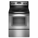 WFE525C0BS Whirlpool 5.3 cu. ft. Electric Range with TimeSavor Convection Cooking - Stainless Steel