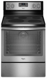 WFE540H0ES Whirlpool 6.4 Cu. Ft. Freestanding Electric Range with AquaLift� Self-Cleaning Technology - Black with Stainless Steel