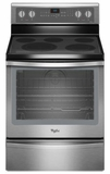 WFE715H0ES Whirlpool 6.4 Cu. Ft. Freestanding Electric Range with Warming Drawer - Stainless Steel