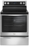 "WFE745H0FS Whirlpool 30"" Electric Range with 6.4 cu. ft. Convection Oven with 5 Radiant Elements and 8,600 Watt Cooktop - Stainless Steel"