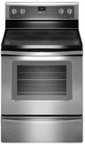 WFE905C0ES Whirlpool 5.3 Cu. Ft. Freestanding Electric Oven Range with FlexHeat Triple Radiant Element - Stainless Steel
