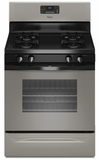 WFG510S0AD Whirlpool 5.0 cu. ft. Capacity Gas Range with AccuBake Temperature Management System - Universal Silver