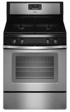 WFG520S0AS Whirlpool 5.0 Cu. Ft. Gas Range 15,000 BTU Power Burners - Stainless Steel