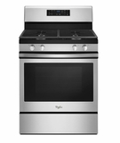 "WFG520S0FS 30"" Whirlpool 5.3 Cu. Ft. Freestanding Gas Range with Self-Cleaning Mode and 4 Sealed Burners - Stainless Steel"