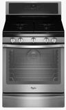 WFG715H0ES Whirlpool 5.8 Cu. Ft. Freestanding Gas Range with AquaLift� Self-Cleaning Technology - Black on Stainless Steel