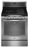 WFG720H0AS Whirlpool� 5.8 cu. ft. Capacity Gas Range with TimeSavor� Plus True Convection Cooking System - Stainless Steel
