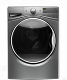 "WFW85HEFC 27"" Whirlpool 4.5 cu. ft. Front Load Washer with EcoBoost and Precision Dispense - Chrome Shadow"