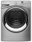 WFW95HEDC Whirlpool 4.5 cu. ft. Duet� Steam Front Load Washer with Dynamic Venting Technology - Chrome Shadow