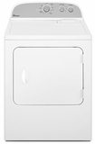 WGD4800BQ Whirlpool 7.0 Cu Ft Gas Dryer - White on White