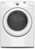 "WGD75HEFW Whirlpool 27"" 7.3 cu. ft. Duet� High Efficiency Front Load Gas Dryer - White"
