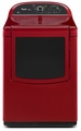 WGD8500BR Whirlpool Cabrio Platinum 7.6 cu. ft. HE Gas Dryer with Enhanced Touch Up Steam Cycle - Cranberry Red