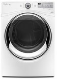 WGD88HEAW Whirlpool 7.4 cu. ft. Duet Steam Gas Dryer with Quad Dryer Baffles - White