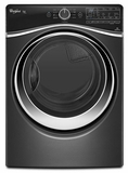 WGD97HEDBD Whirlpool 7.4 cu. ft. Duet Steam Gas Dryer with SilentSteel Dryer Drum - Black