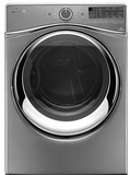 WGD97HEDC Whirlpool 7.4 cu. ft. Duet Front Load Gas Steam Dryer with SilentSteel Dryer Drum - Chrome Shadow