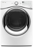 WGD97HEDW Whirlpool 7.4 cu. ft. Duet  Gas Steam Dryer with SilentStee Dryer Drum - White