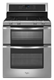 WGG555S0BS Whirlpool 6.0 Total cu. ft. Double Oven Gas Range with AccuBake System - Stainless Steel