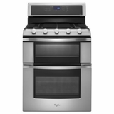 WGG755S0BS Whirlpool 6.0 Total cu. ft. Double Oven Gas Range with Convection Cooking - Stainless Steel